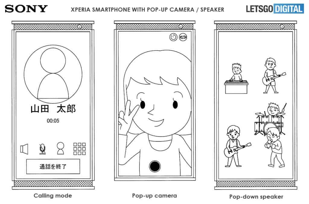 sony xperia smartphone pop up pop down 2