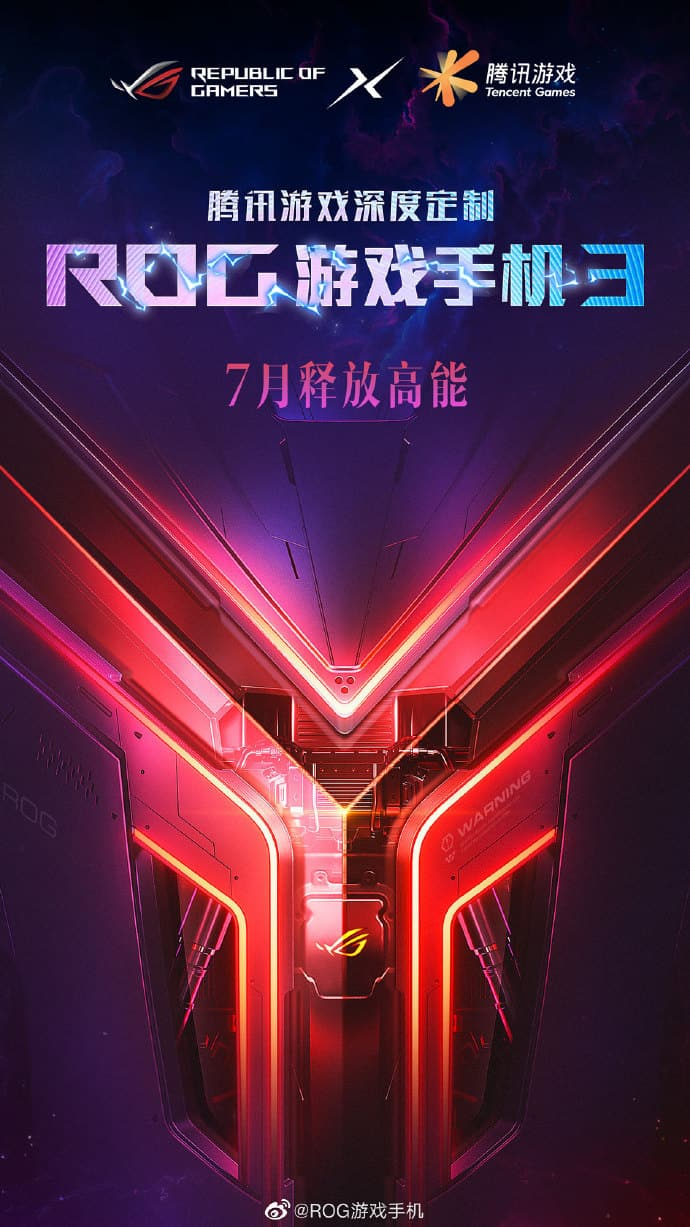 ASUS ROG Phone 3 launch teaser