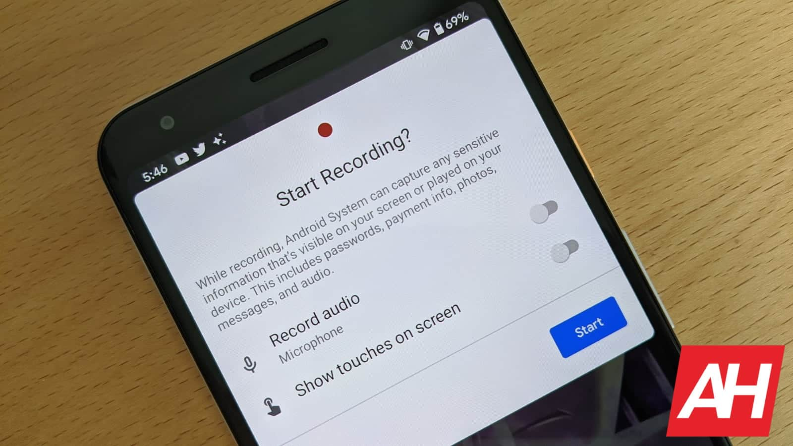 Android 11 Beta Screen Recorder