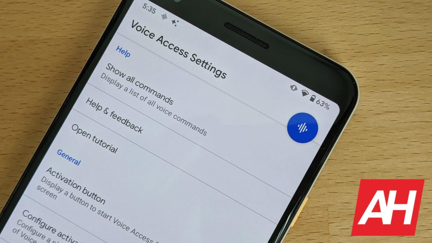 Android 11 Voice Access