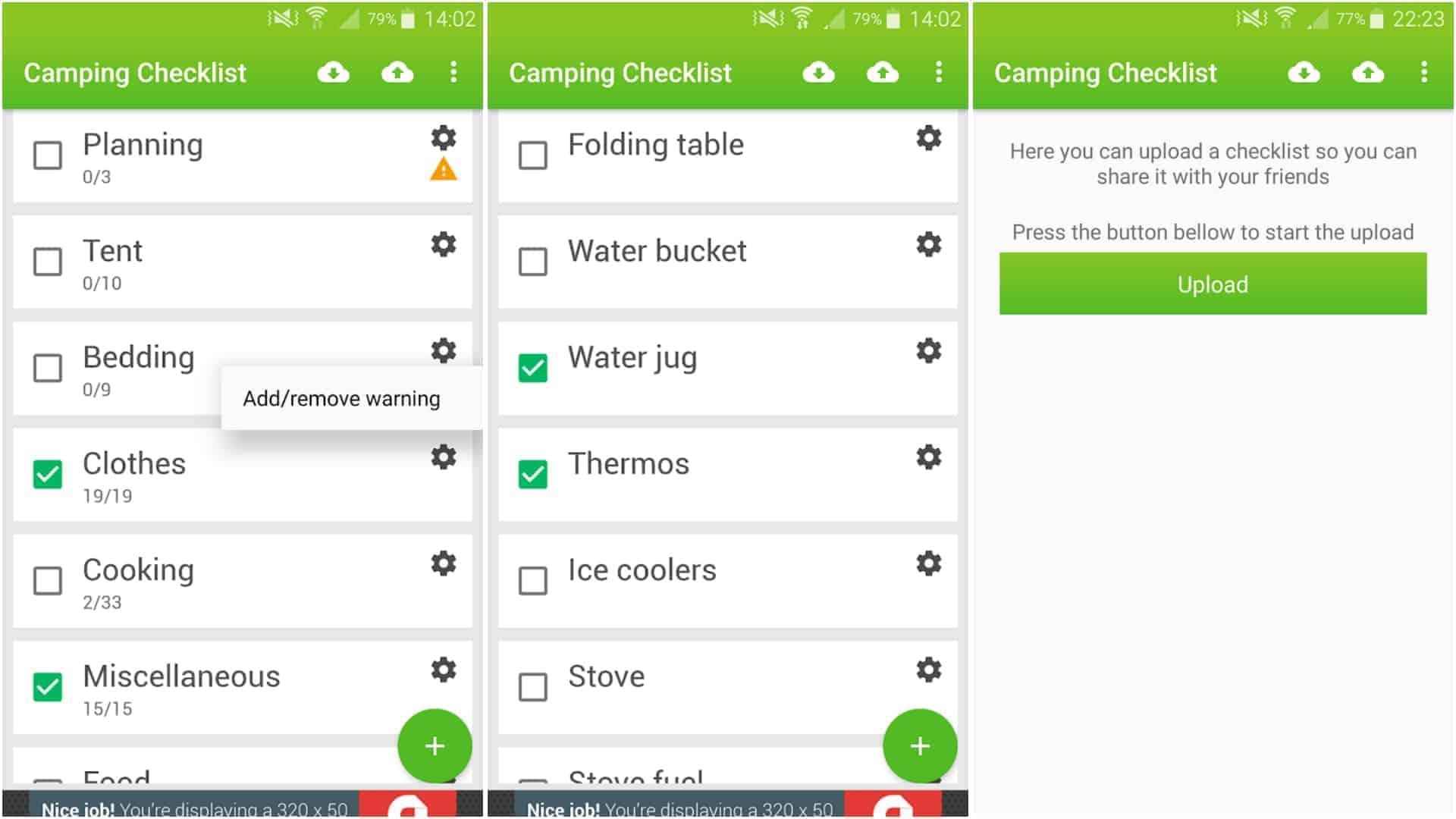 Image de l'application Camping Checklist Juin 2020