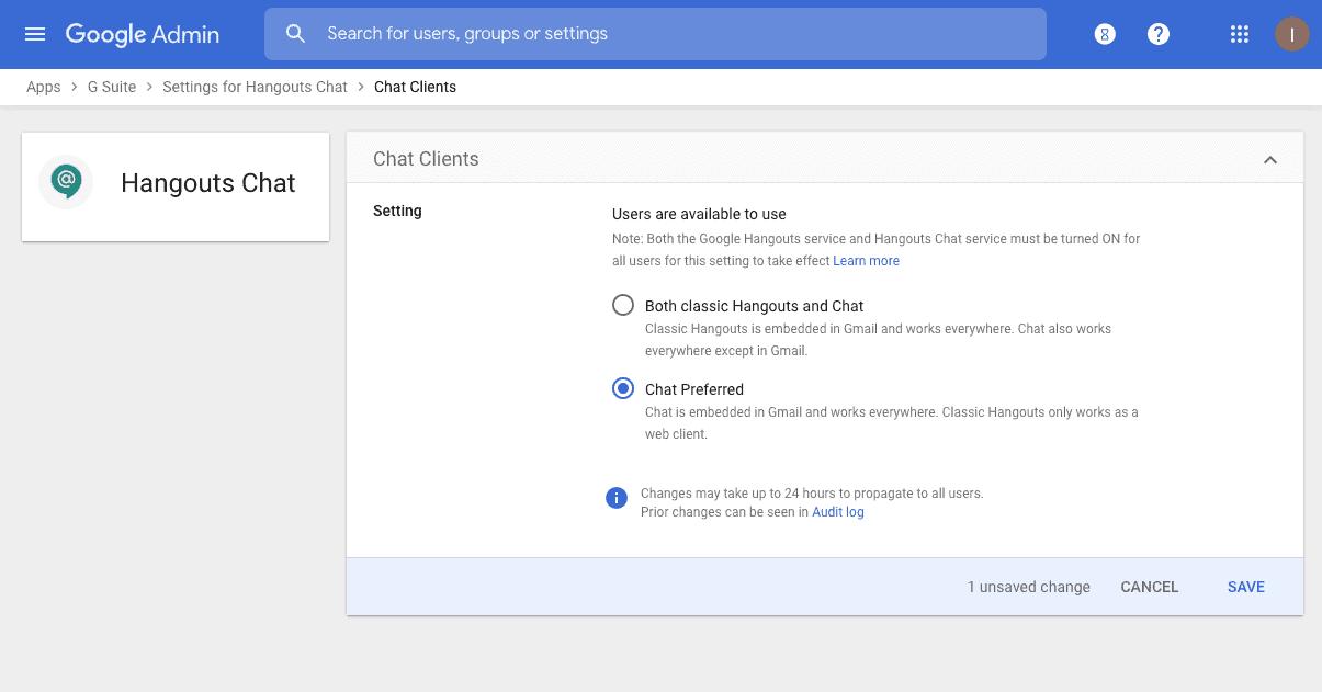 G Suite Google Chat Migration 2