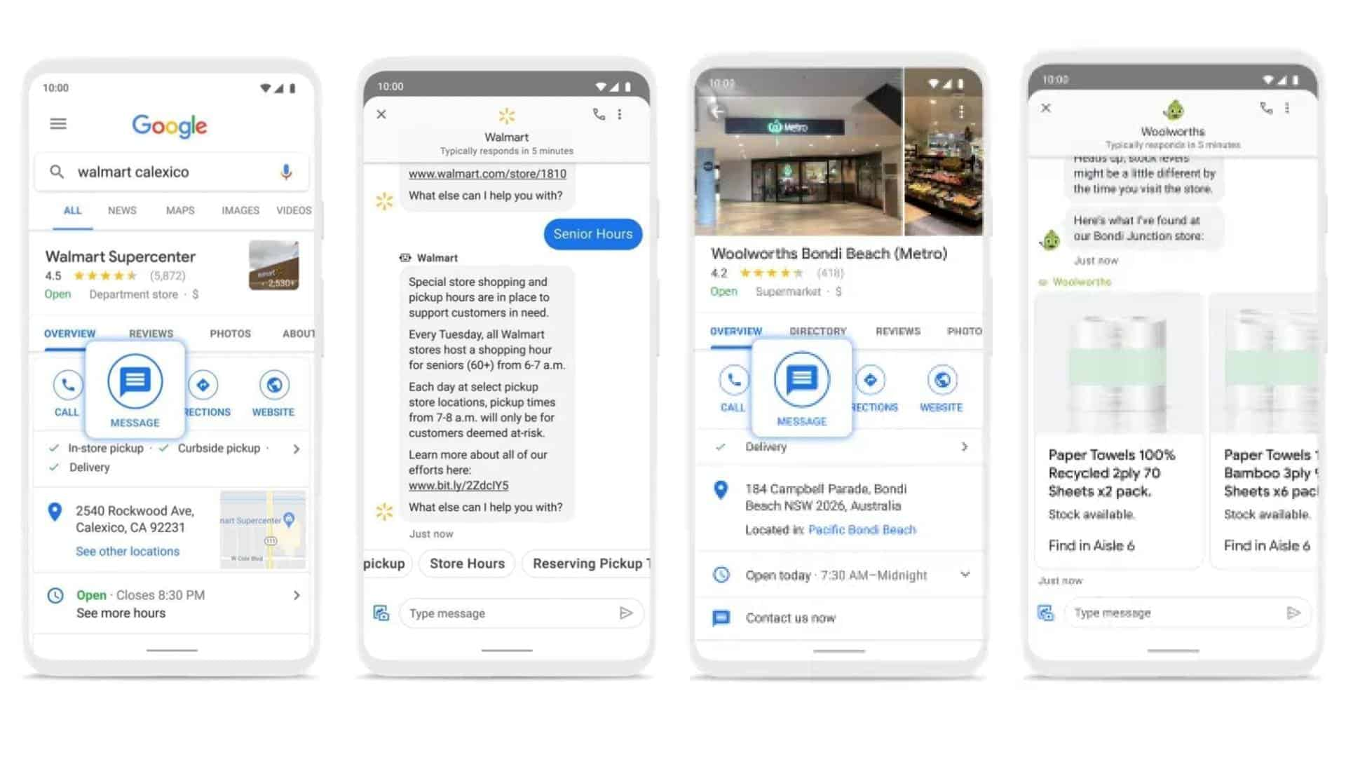 Google Search Maps Messaging Expansion pressers