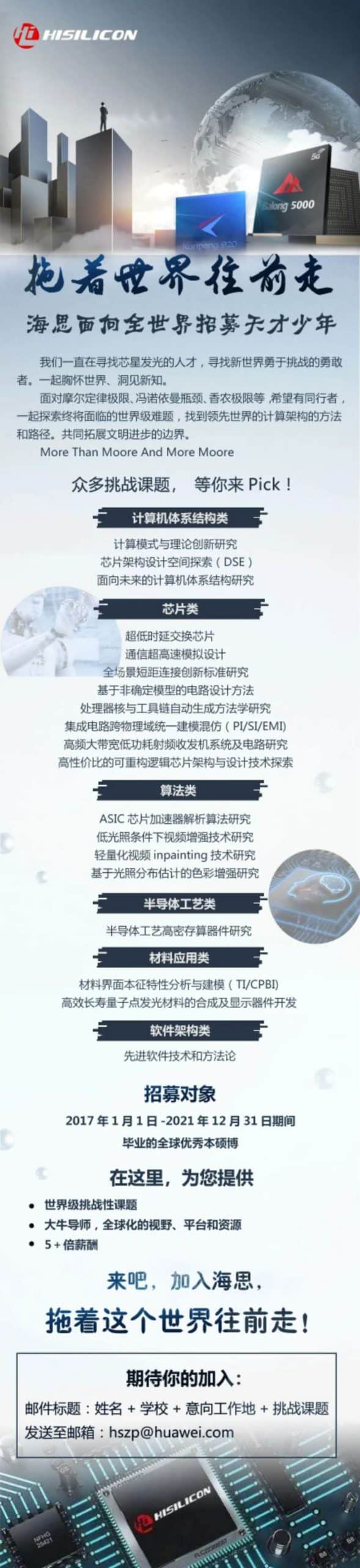 Huawei HiSilicon hiring