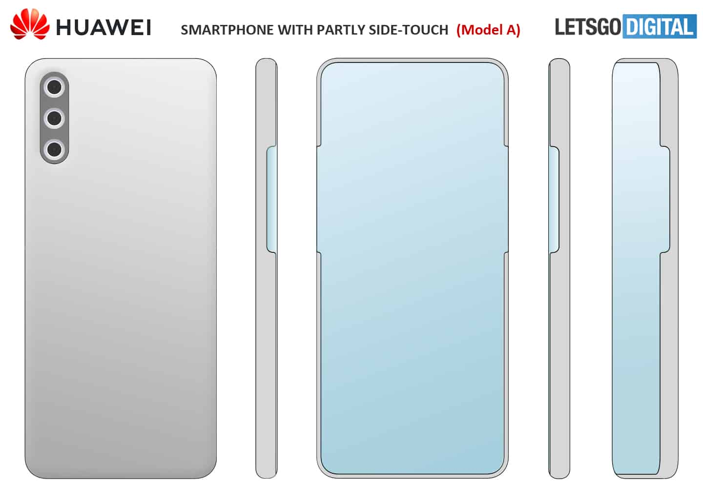 Huawei design under display camera and virtual buttons model 1