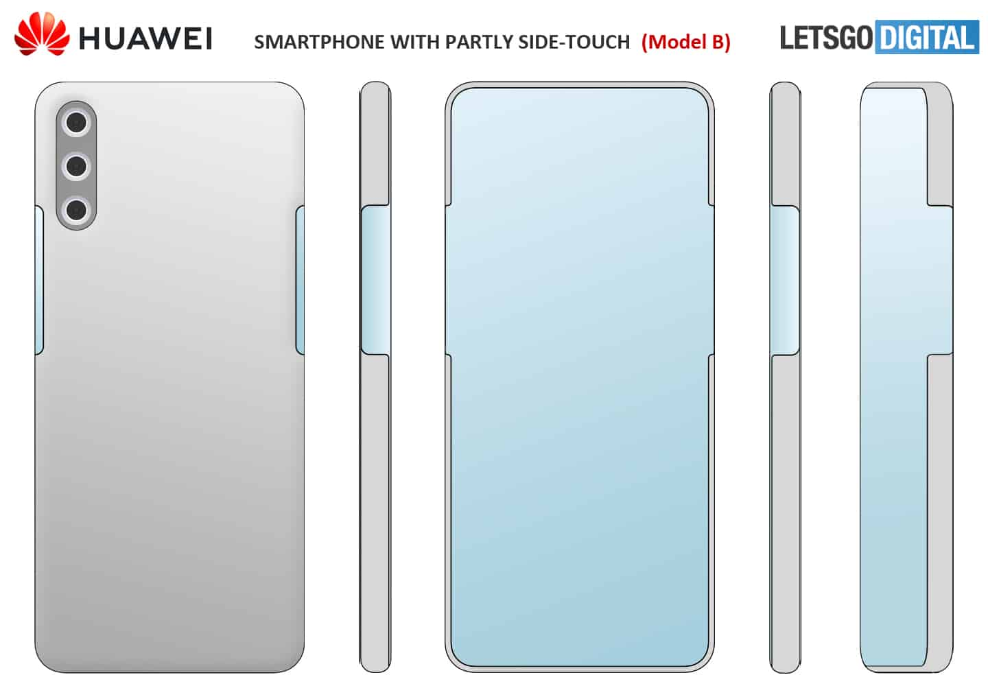 Huawei design under display camera and virtual buttons model 2
