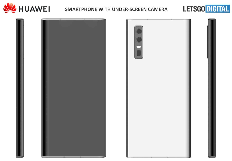 Huawei smartphone patent under display camera 1