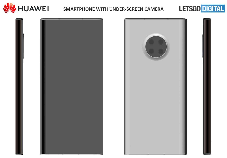 Huawei smartphone patent under display camera 2