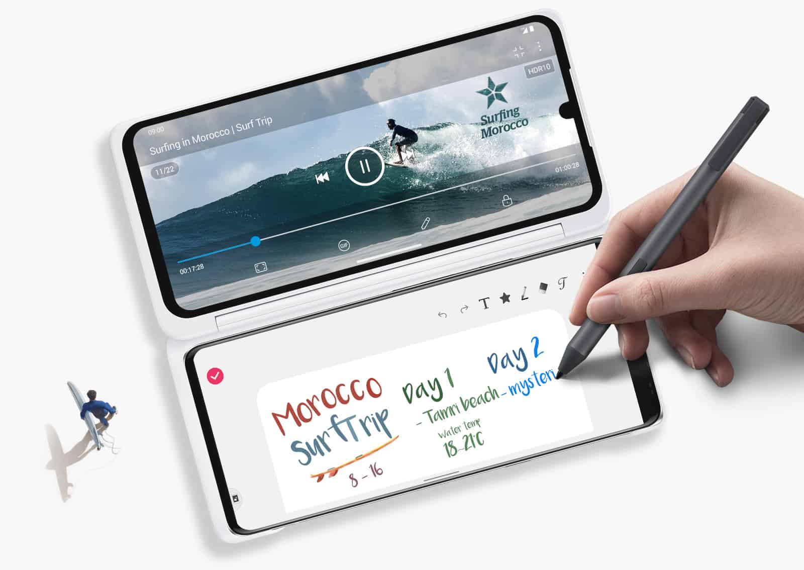LG VELVET Dual Screen Pen