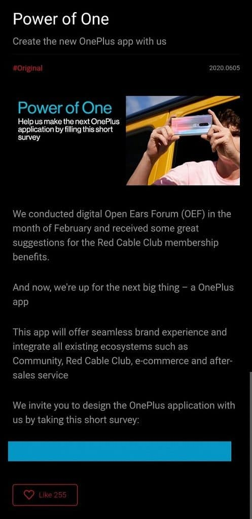 OnePlus App is coming