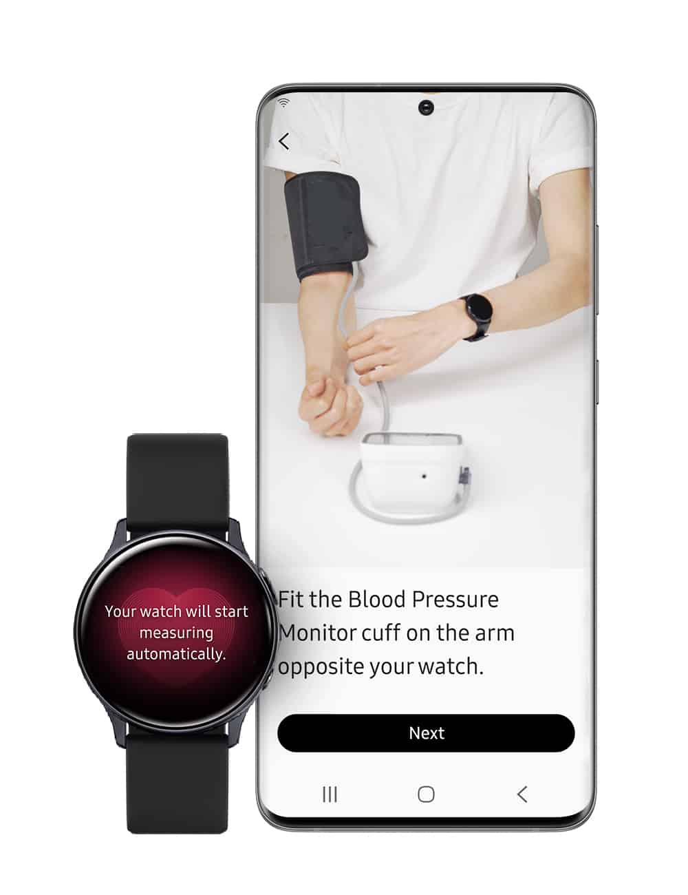 Samsung Health Monitor app with Blood Pressure tracker image 3