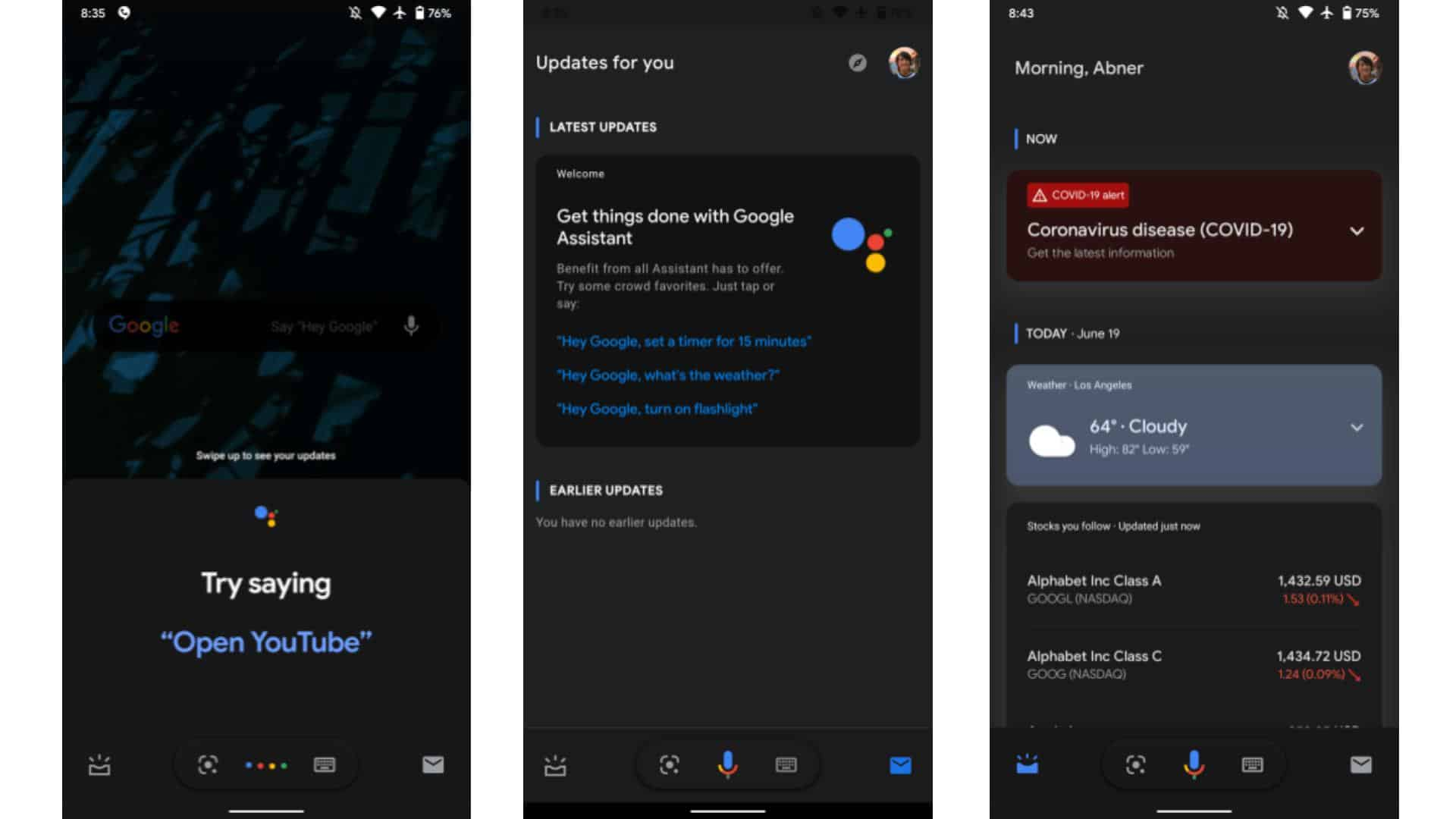 Updates for You Onboarding assistant test ui from 9to5Google