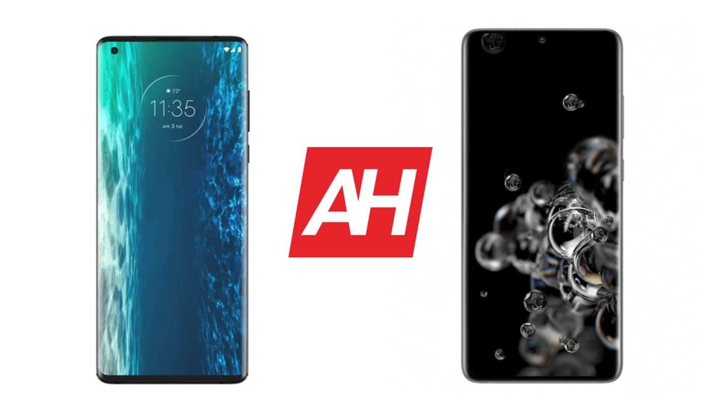 AH Motorola Edge vs Samsung Galaxy S20 Ultra comparison