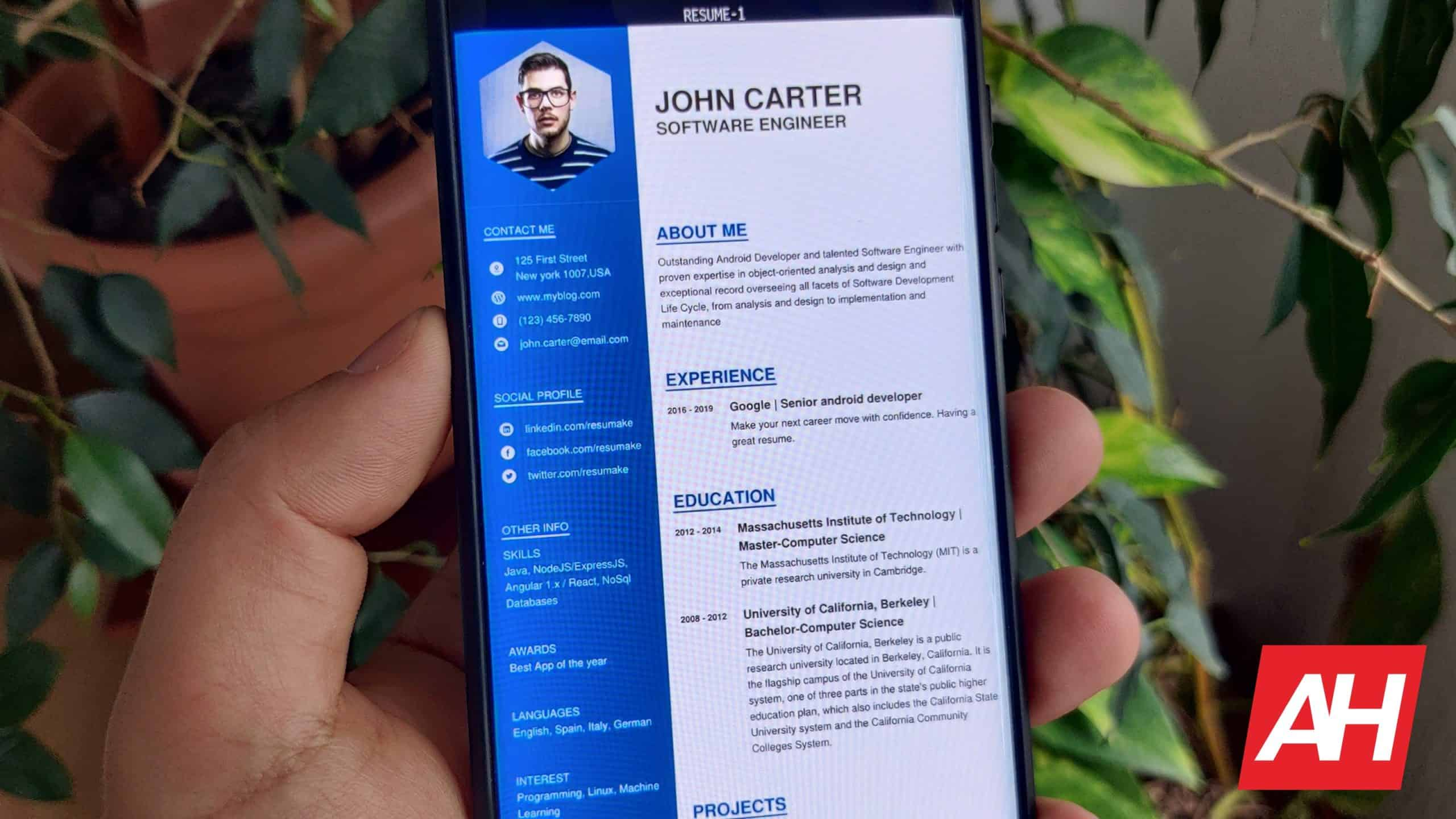 top 9 best resume builder android apps  u2013 2020