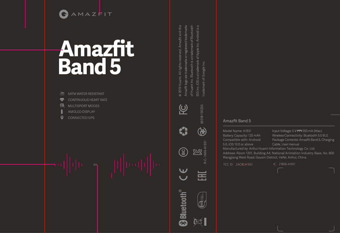 Amazfit Band 5 Package Label