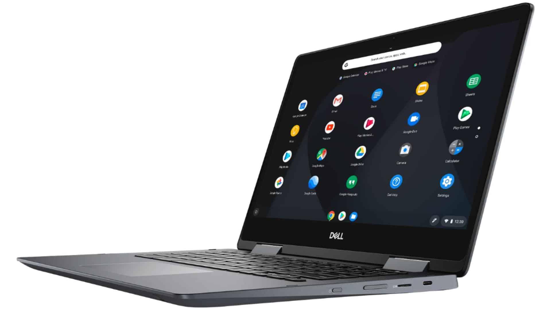Dell Inspiron Chromebook 14 2 in 1 7486 model presser for best chromebooks students school 2020