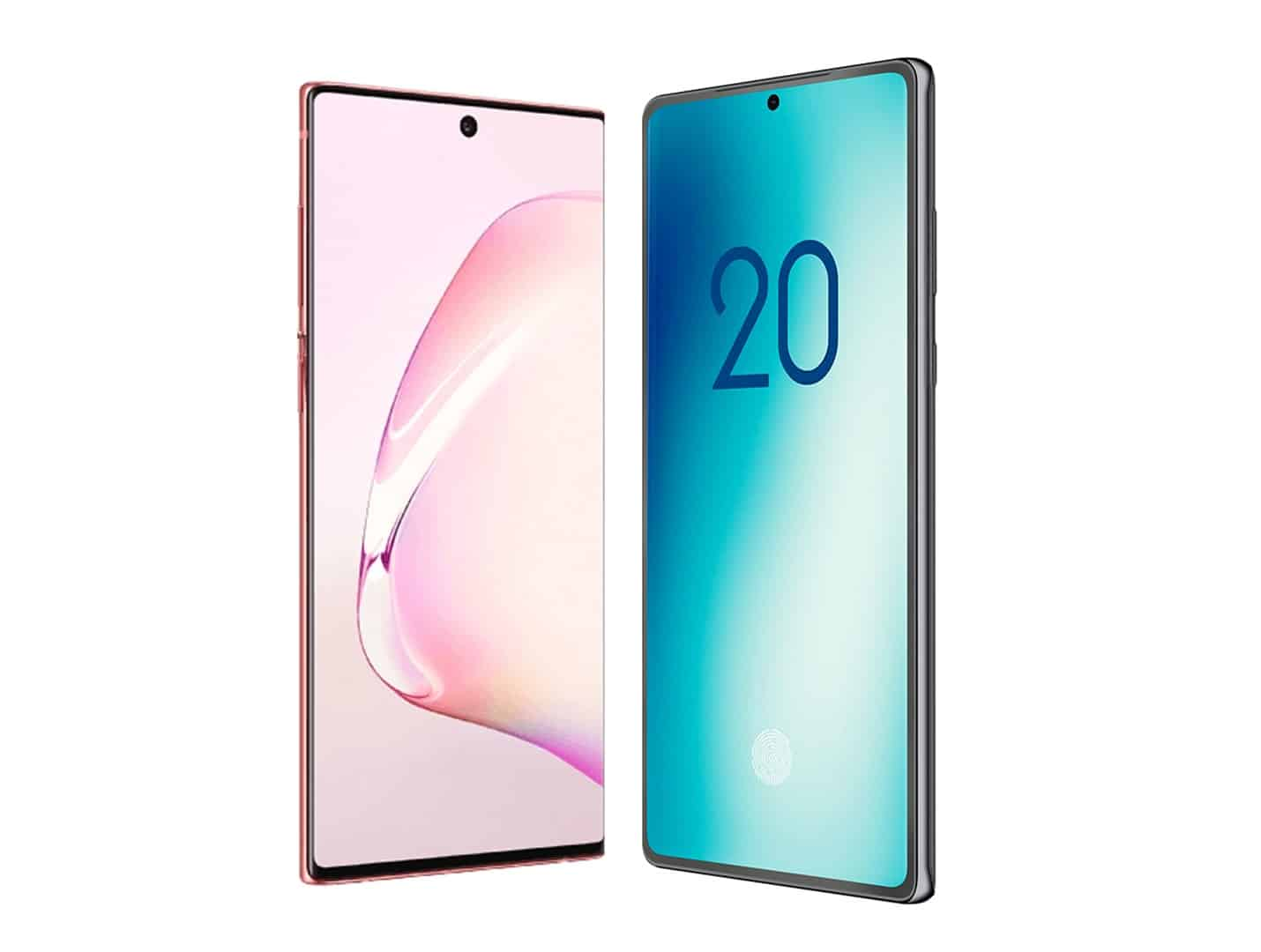 Galaxy Note 10 vs Note 20 size comparison pre launch 1