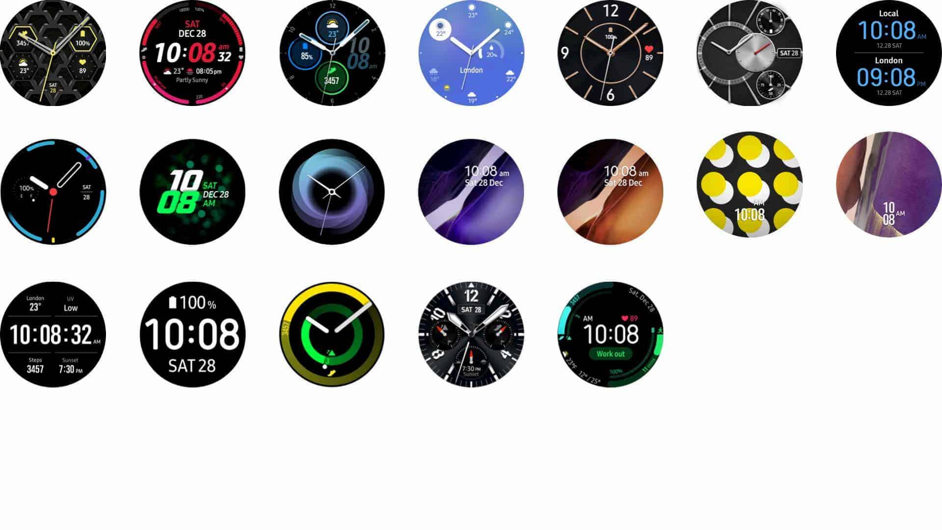 Galaxy Watch 3 watchfaces 02