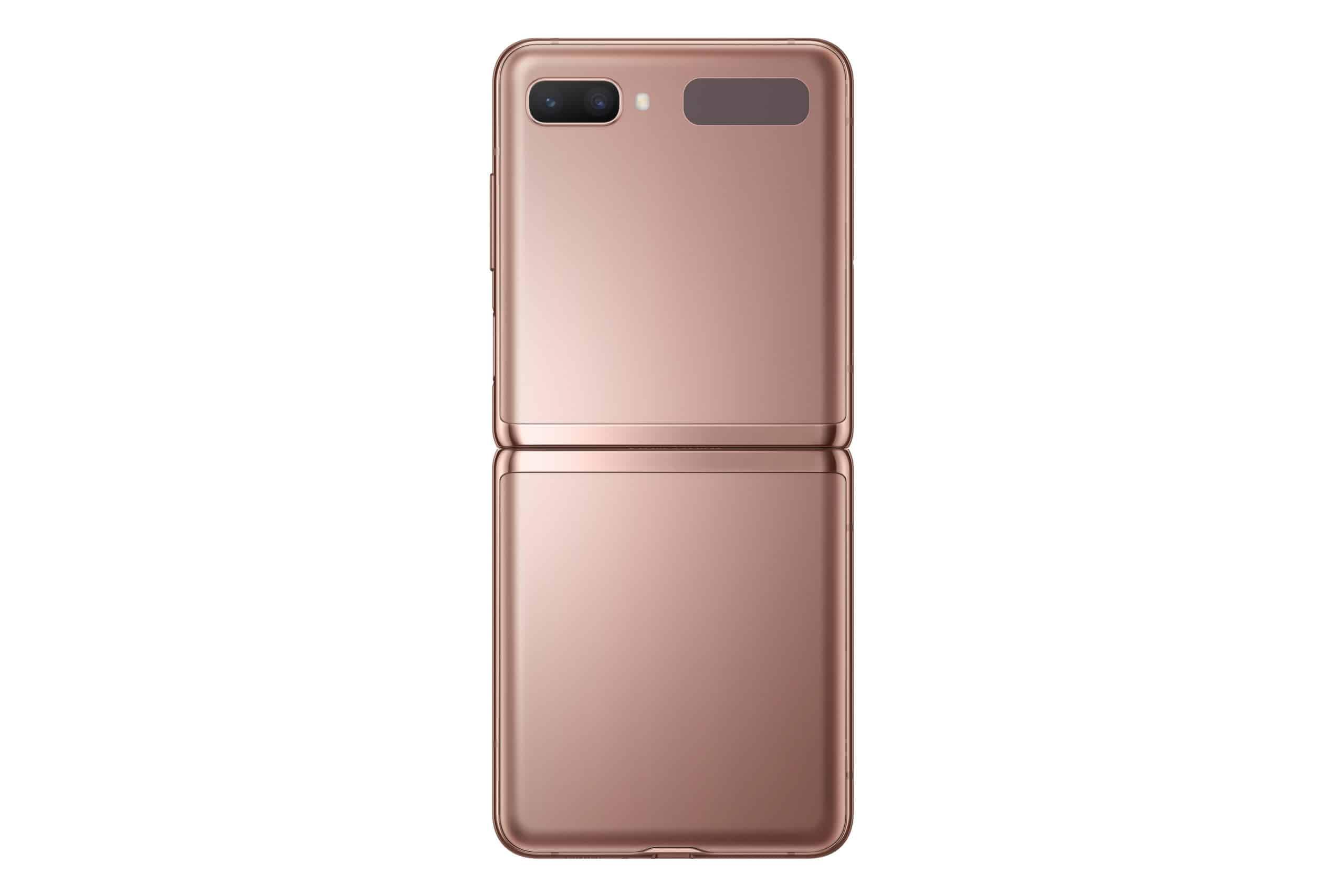 Galaxy Z Flip 5G Mystic Bronze Back Open