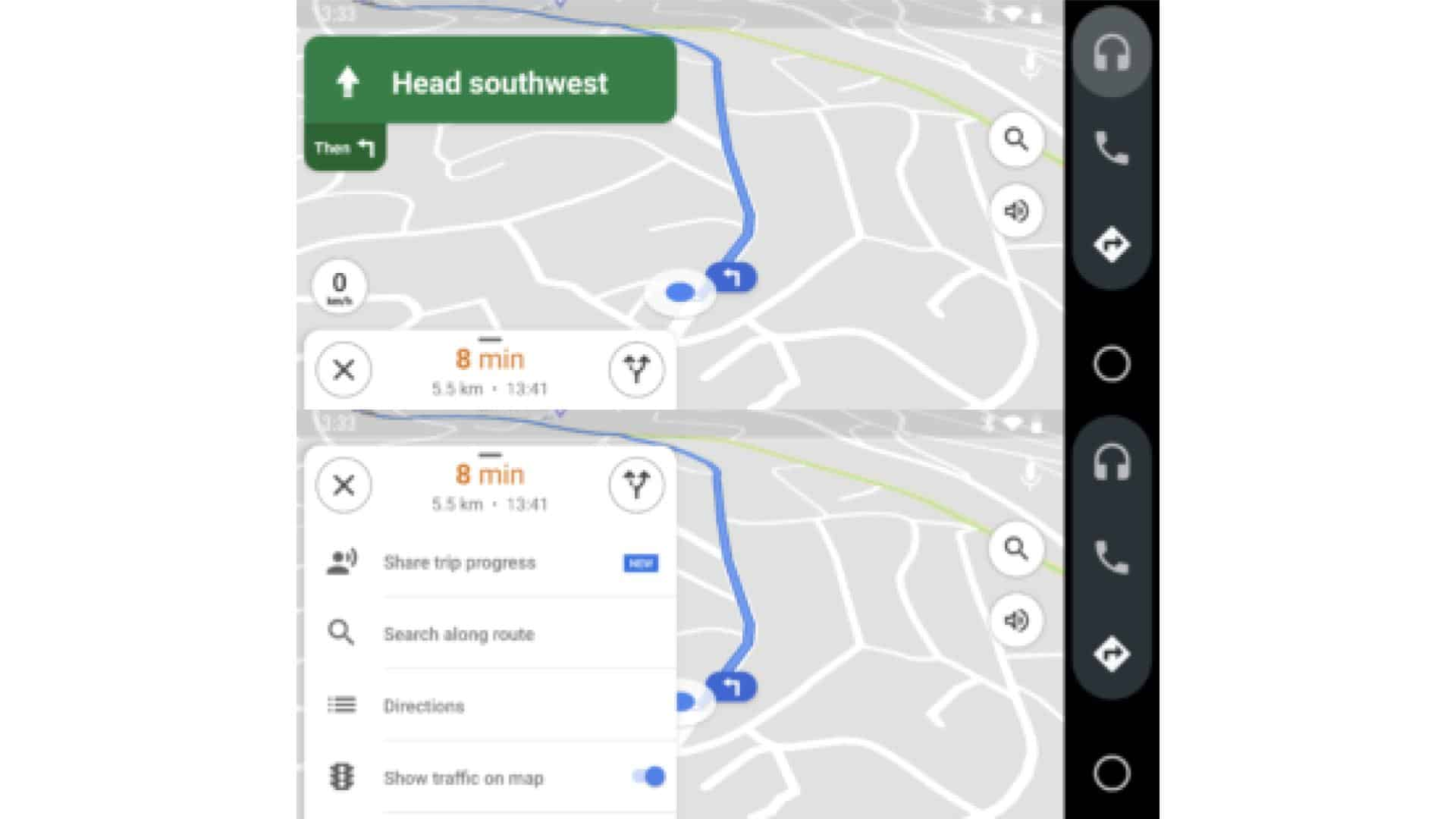 Google Maps Android Auto Update 02 from AndroidPolice