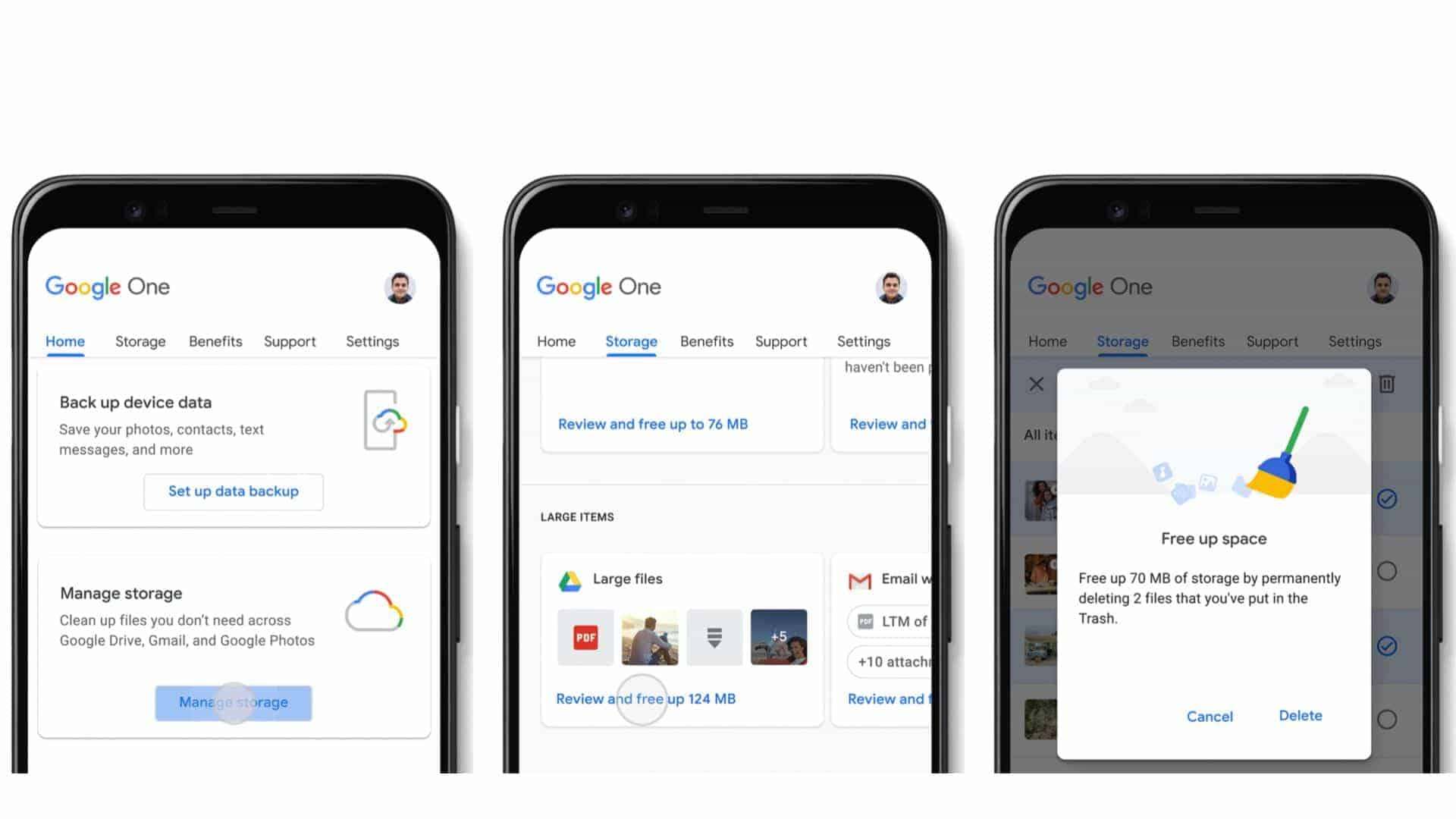 Google One Free Storage Backup announcement pressers 02
