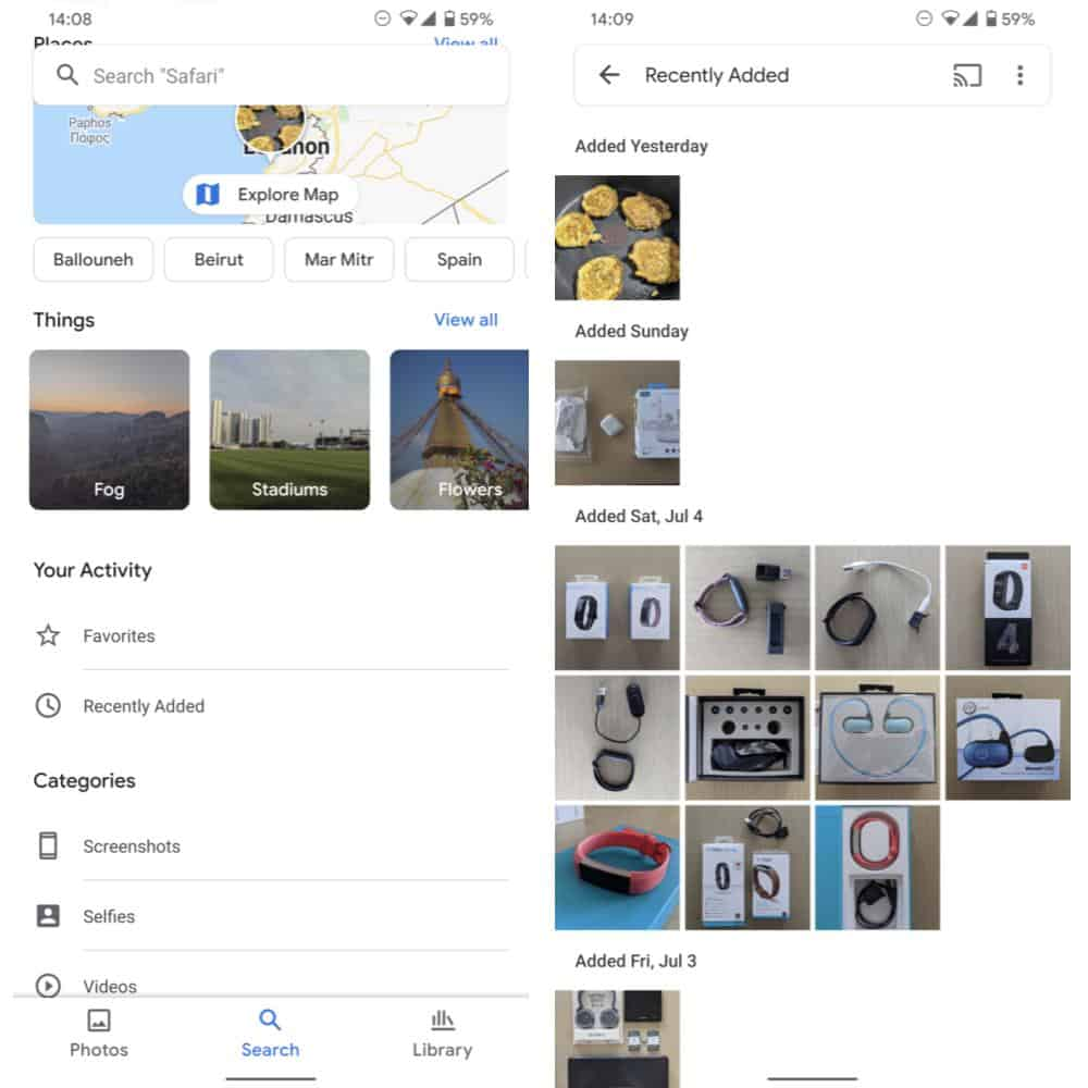 Google Photos Recently Uploaded Sorting from Android Police