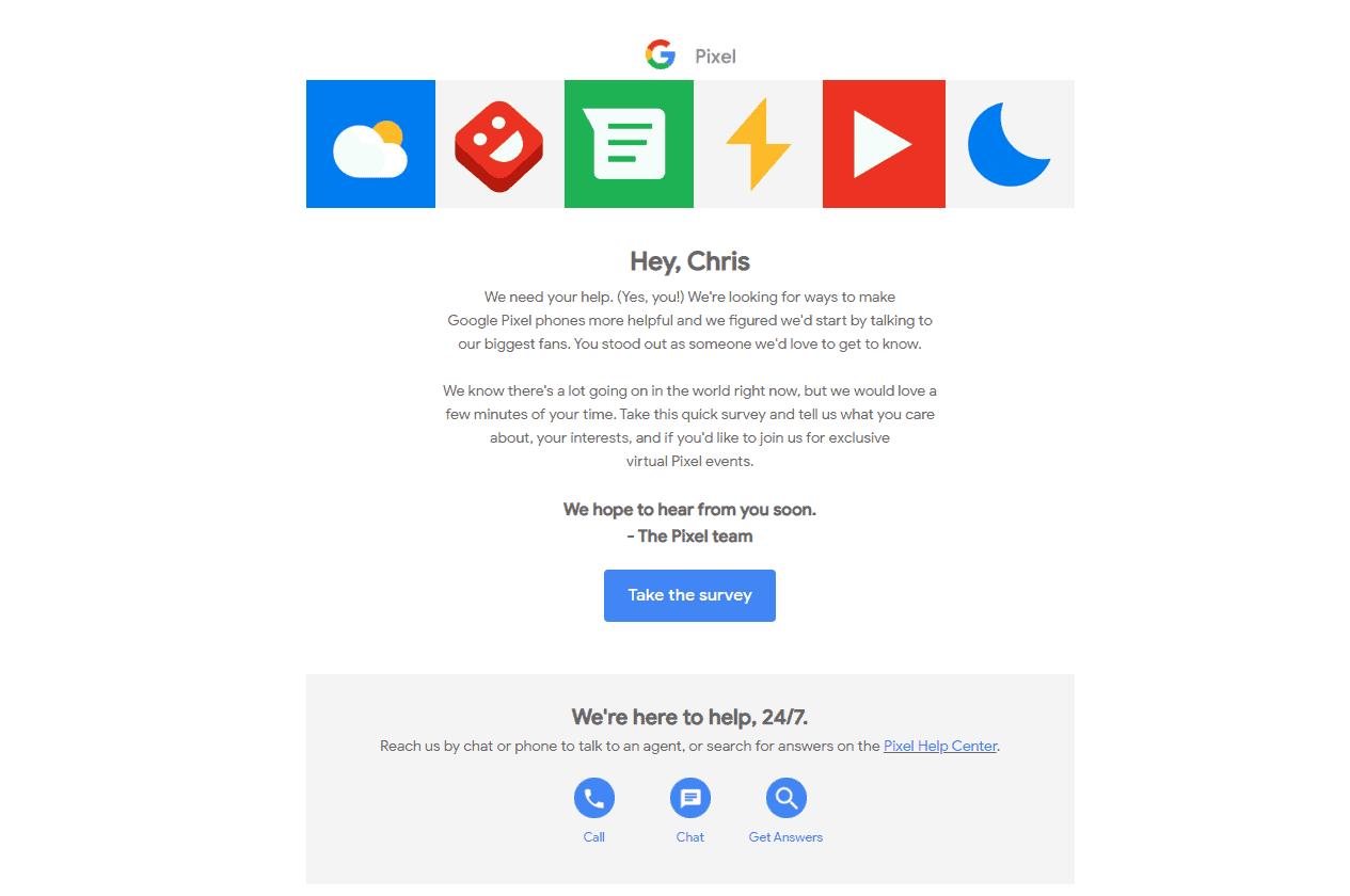 Google Pixel Super Fans Survey