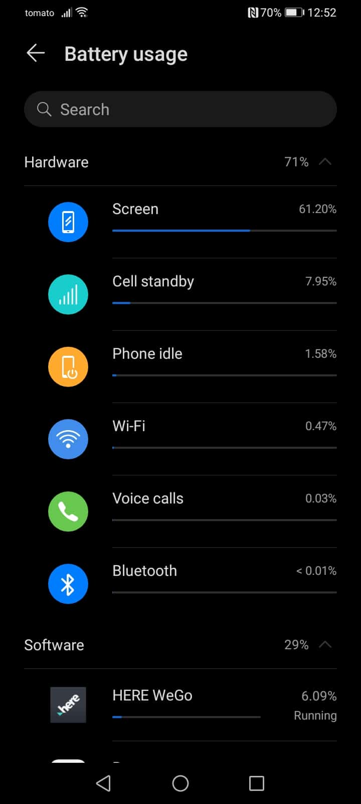 HONOR 9A battery life day one sample 2
