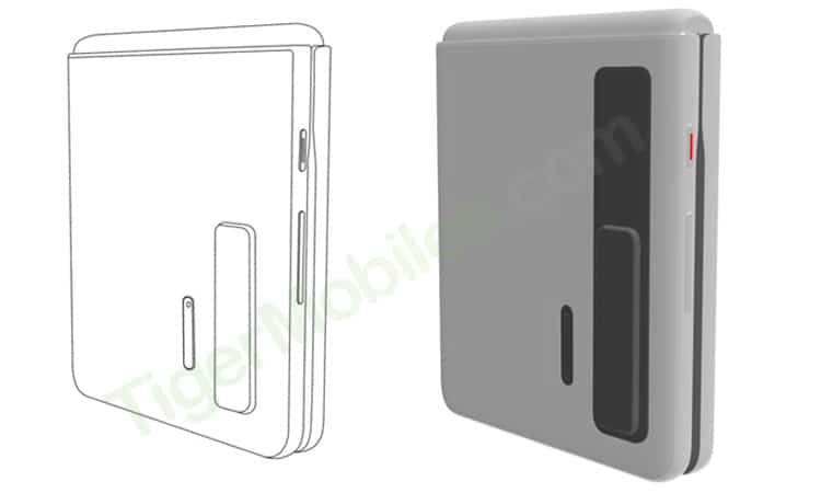 Huawei clamshell foldable patent design 1