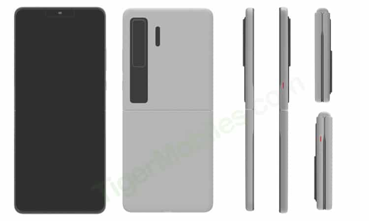 Huawei clamshell foldable patent design 2