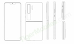 Huawei clamshell foldable patent design 3