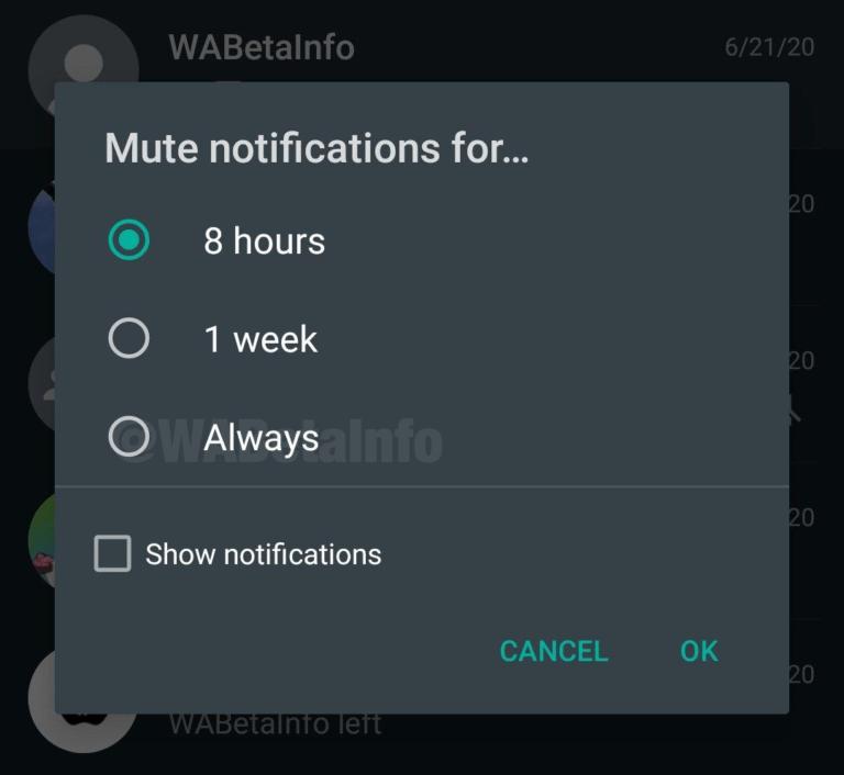 Mute Always Android WhatsApp