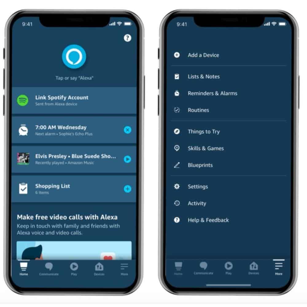 New Amazon Alexa App Interface from CNBC via Amazon