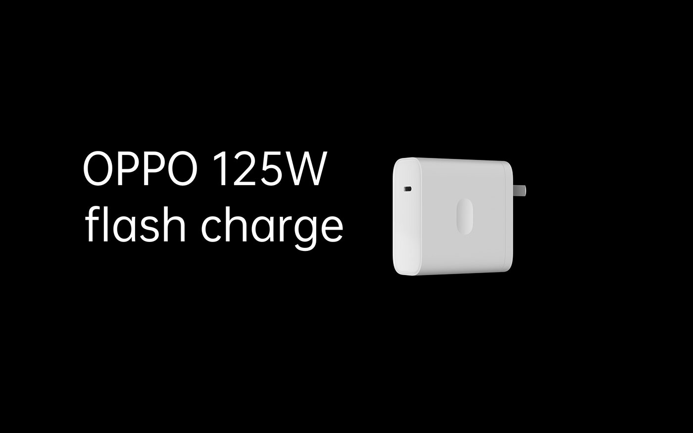OPPO 125W flash charge charger