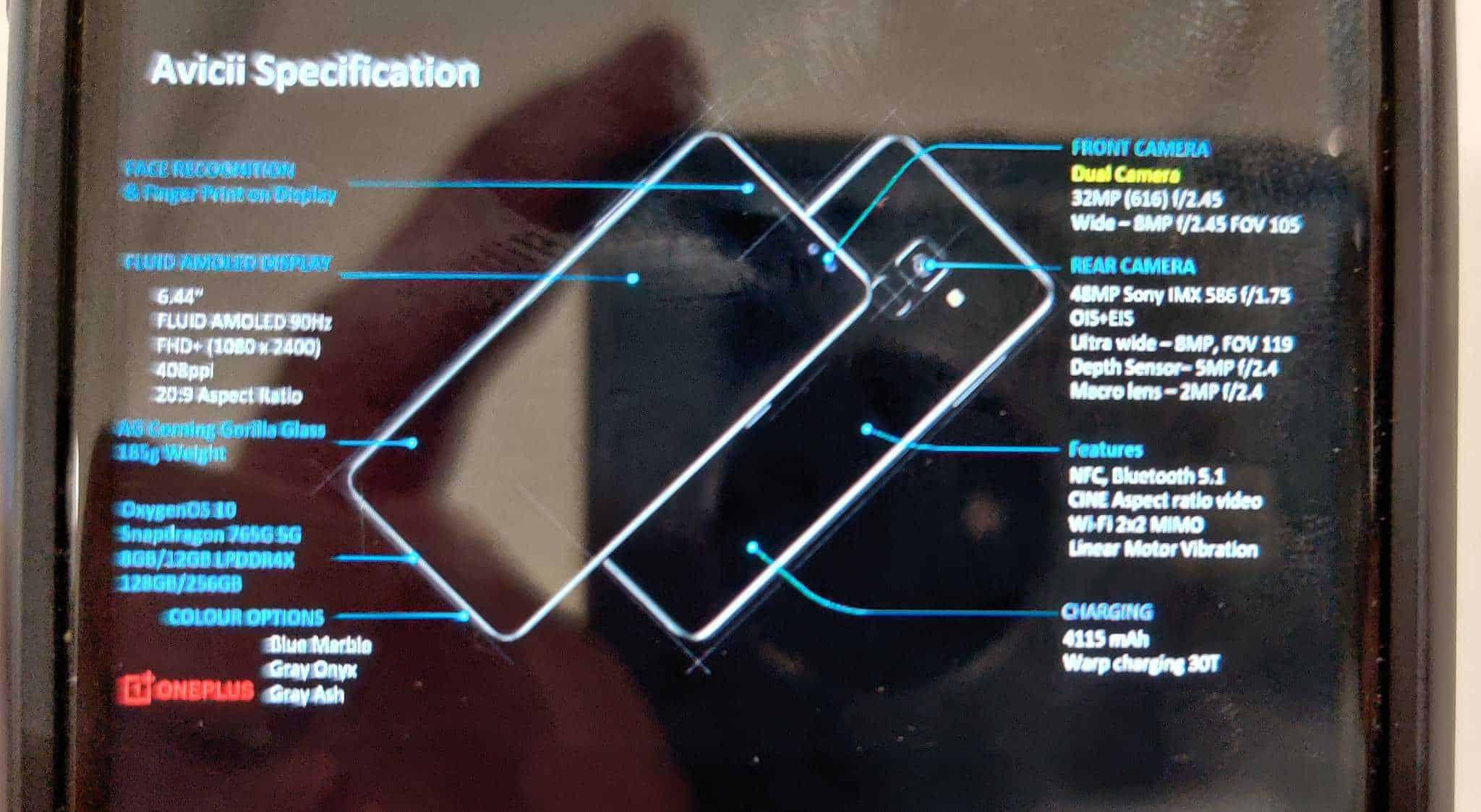 OnePlus Nord specs leak