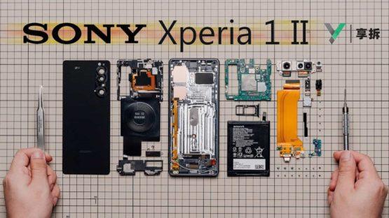 Sony Xperia 1 II teardown from XYZONE