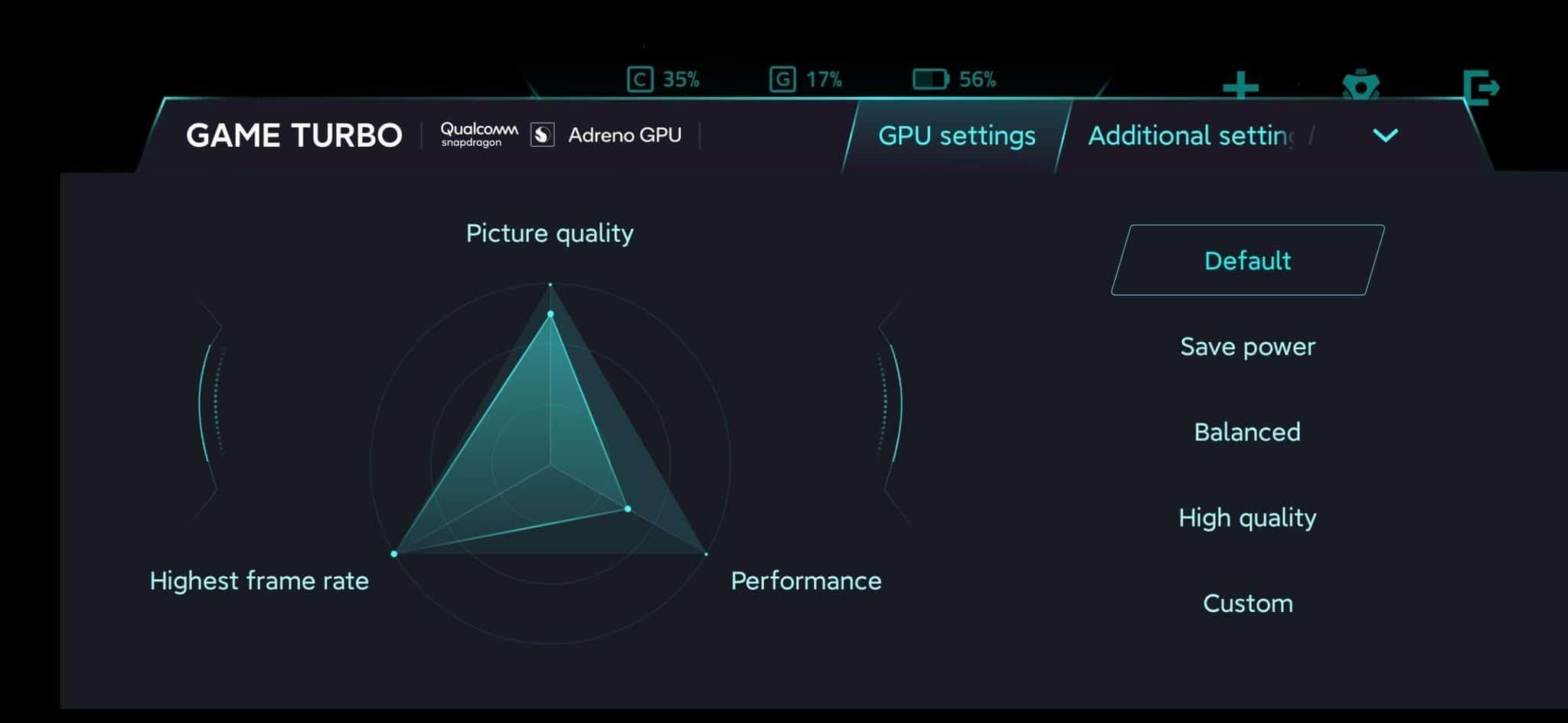 Xiaomi Mi1 Pro Game Turbo Mode 1