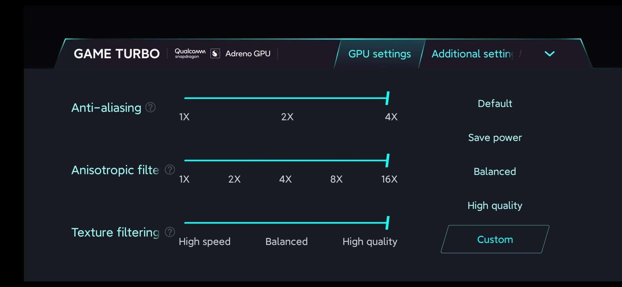 Xiaomi Mi1 Pro Game Turbo Mode 2