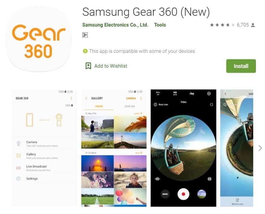 galaxy gear 360 app