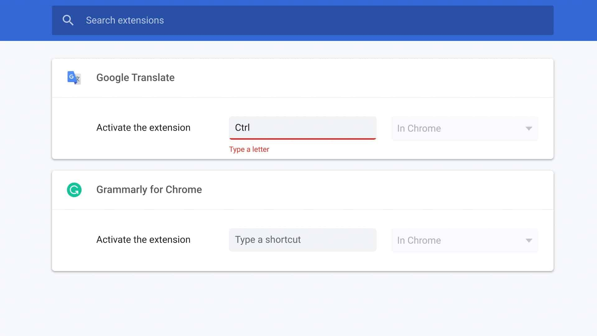 how to custom keyboard shortcuts chrome extensions 08