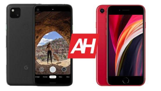 AH Google Pixel 4a vs iPhone SE 2020 comparison
