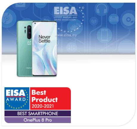 EISA Awards oneplus 8 pro