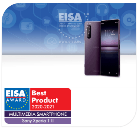 EISA Awards sony xperia 1 ii