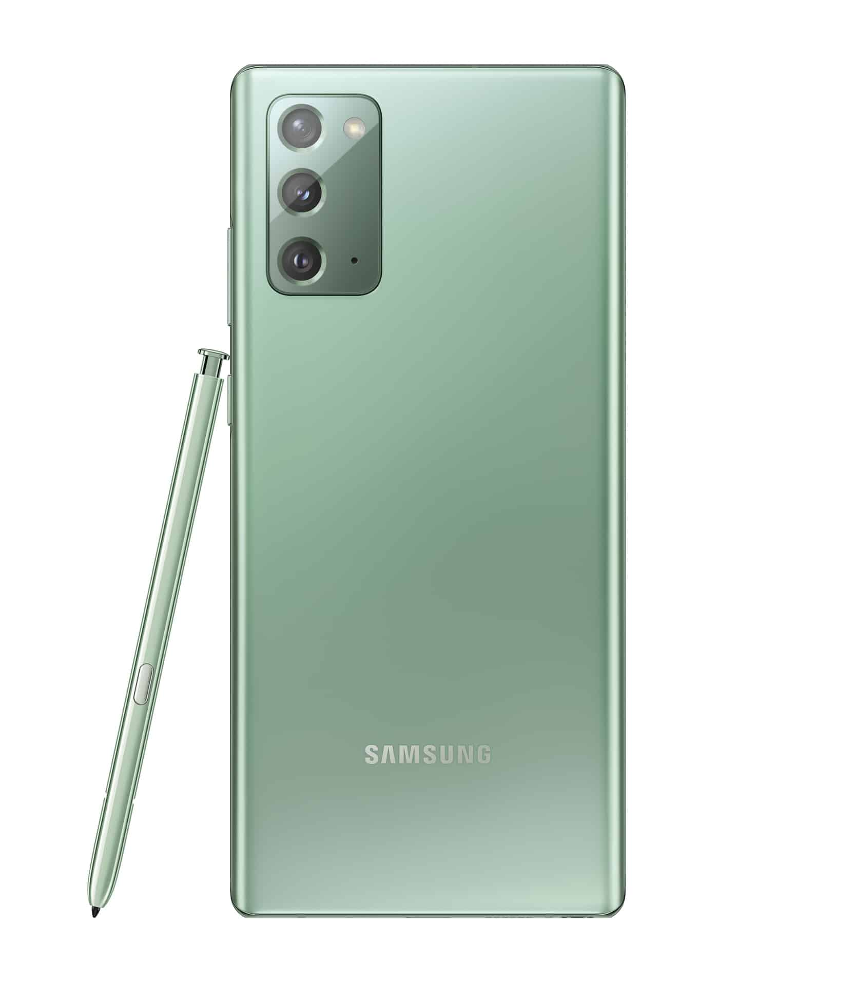 Galaxy Note20 Mystic Green Back with S Pen
