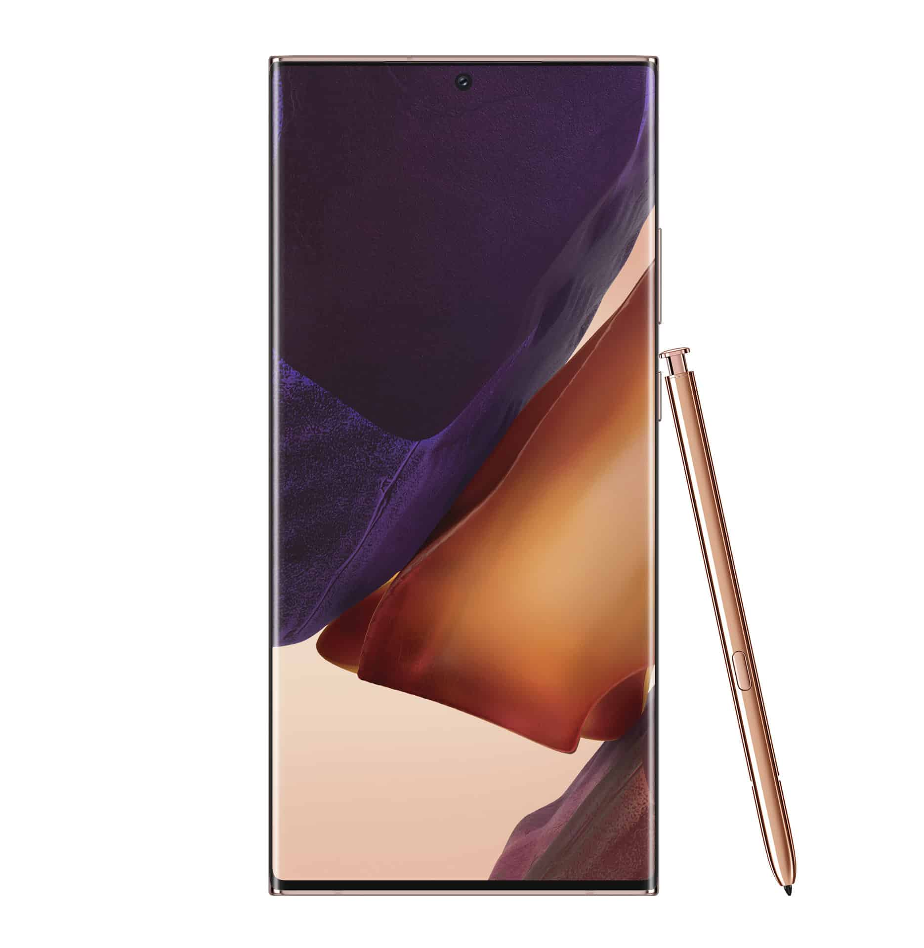Galaxy Note20 Ultra Mystic Bronze Front with S Pen