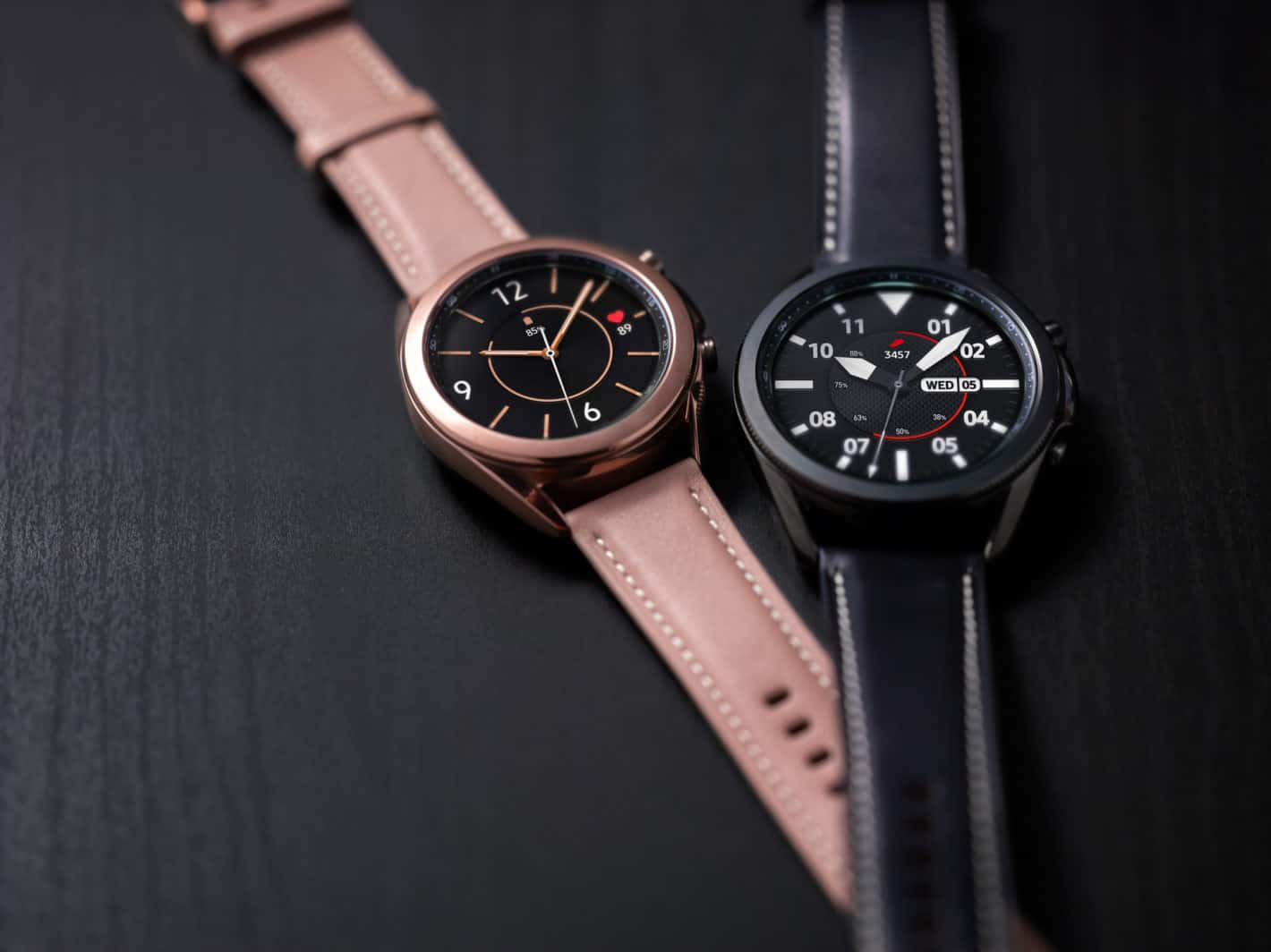 Galaxy Watch3 Mystic Bronze and Black Front Lifestyle