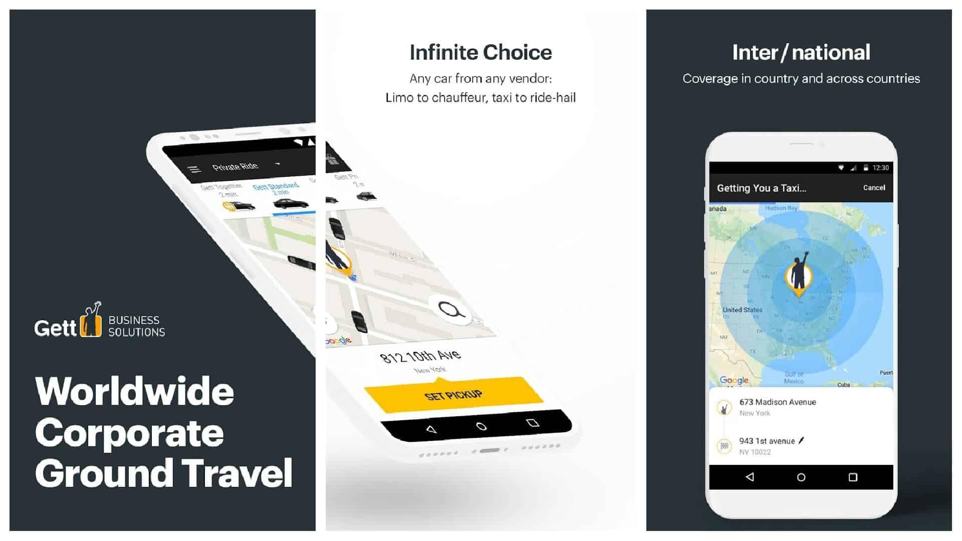 Gett app image grid