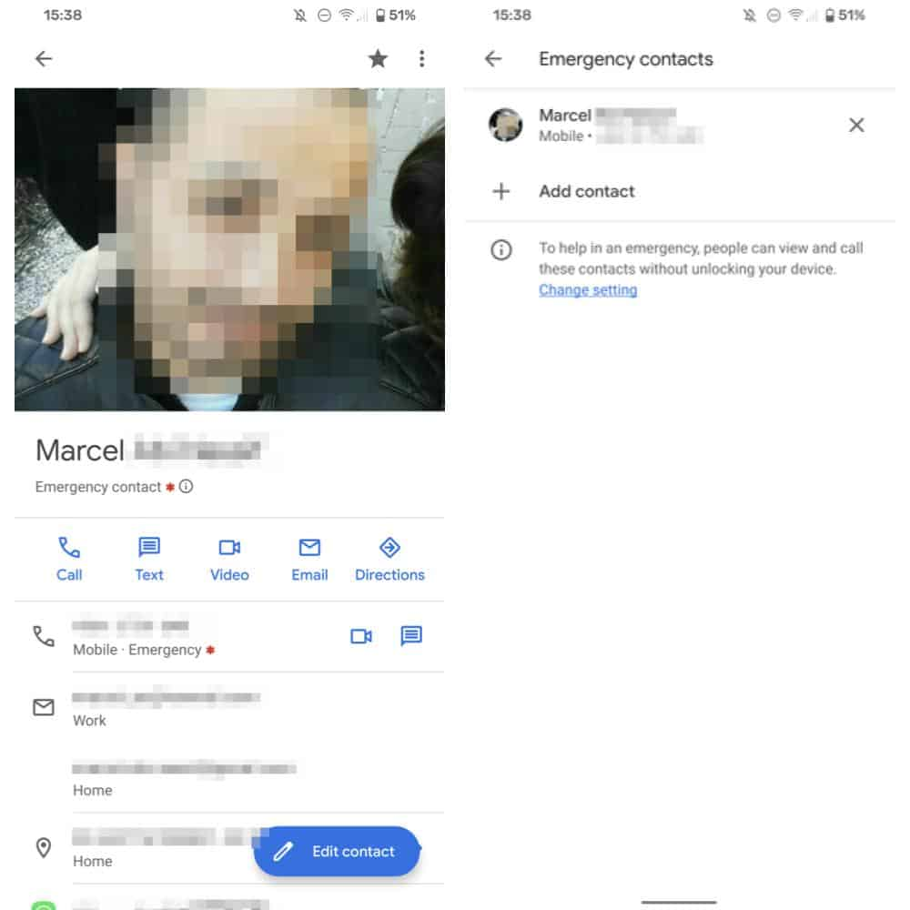 Google Contacts Emergency asterisk from Android Police