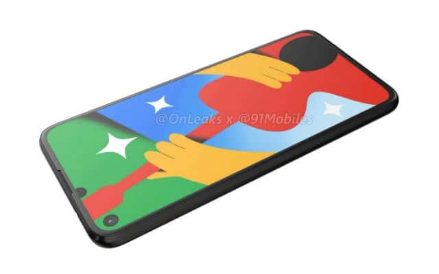 Google Pixel 4a 5G render leak 11
