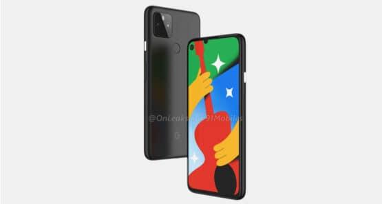 Google Pixel 4a 5G render leak 4